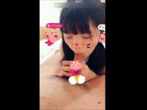 【スマホ撮影】10代少女のフェラ顔をSNOWで撮影した動画が流出www